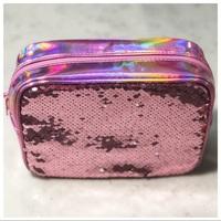 Ulta Beauty Pink/Silver Sequin Makeup Bag