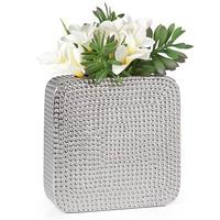 Hello hammered ceramic square vase