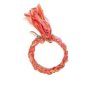 Ettika braided crystal braclet salmon color