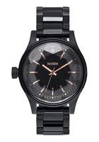 Nixon Facet Watch (black and rose gold)