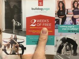 Two weeks of free yoga classes on Bulldog Yoga app