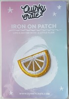 Quirky Crate Lemon Iron On Patch