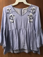 Hazel Vare Embroidery Detail Top