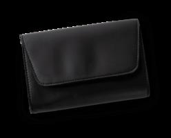 October Jaipur Black Vegan Leather Clutch