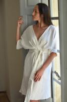 COCO LINEN DRESS (WHITE)