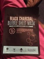Black charcoal bubble sheet mask
