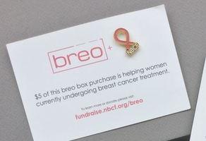 NBCF + BREO PINK RIBBON PIN