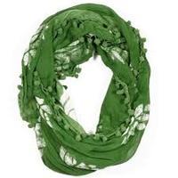 Batik Pom infinity scarf
