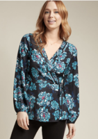 Chic Sophistication 3/4 Sleeve Top in Floral