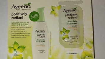 Aveeno Positively Radiant Sheer Daily Moisturizer with Sunscreen