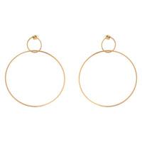 Ettika Gold Double Hoop Earrings