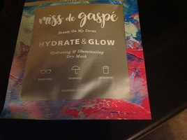 Miss de Gaspe hydrating illuminating dry mask