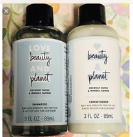 Love Beauty and Planet Coconut Water and Mimosa Flower Shampoo and Conditioner