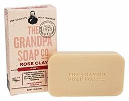 The Grandpa Soap Company Rose Clay Bar Soap
