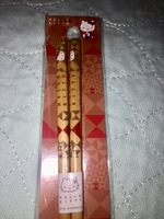 Sanrio Hello Kitty Bamboo Chopsticks