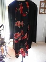 Le Lis Womens Plus 3X Black Floral Long Sleeve Hi Low