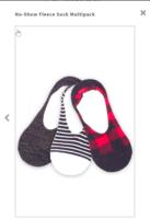 Plush Apparel No Show Fleece Socks
