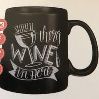 """Wine In Here"" Ceramic Coffee Mug"