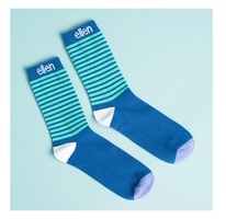 Ellen Blue Striped Socks