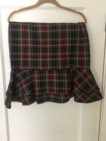 Plaid tulip skirt - large
