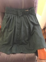 Green wool skirt - large