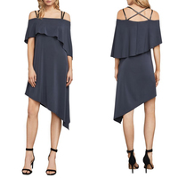 BCBGMAXAZRIA Karlyn Asymmetrical Dress, M
