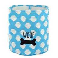 Canvas dog toy storage bin