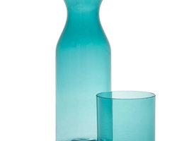 Rio Curve Carafe adn Tumbler set - Blue