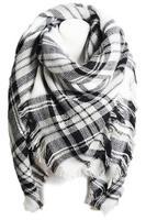 Olive & Pique Blanket Scarf (black & white)