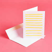 Yellow Lines Any Occasion Card