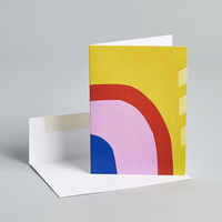 Abstract Rainbow Card