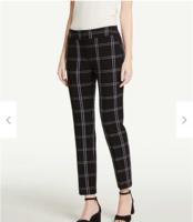 Ann Taylor Factory Curvy Plaid Ankle Pants - Size 16