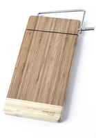 Natural Home Bamboo Cheese Board with Wire Slicer