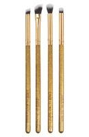 Luxie Luminous Eye Brush Set - 4 Gold Eyeshadow Brushes