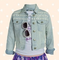 Kidpik Taped Lace Jean Jacket