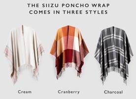 SiiZU Poncho Wrap