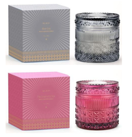 D.L. & Co. Pink Grapefruit and Sage Crystal Candle