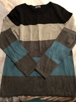 Market & Spruce Colorblock Sweater-L