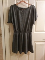 Jessica Simpson grey shimmer dress