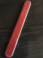 Swissco Nail File Red Glitter