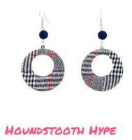 Earfleek Earrings - Houndstooth Hype