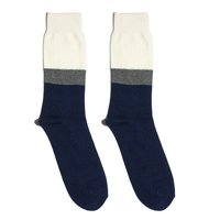 Twelve NVY/WHT mid-calf socks