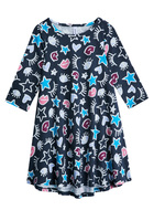 FabKids HI-LOW DOODLE STAR DRESS