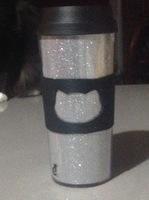 Glitter Cat Travel Tumbler