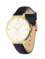 Halcyon Days Maya sport black and gold watch