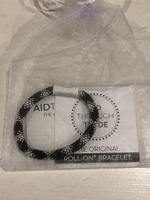 Aid Through Trade Black w/Silver Roll-On Bracelet