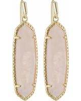 Layla Drop Earrings in Gold/Rose Quartz