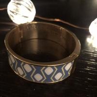Bangle Up Bracelet - Blue & White