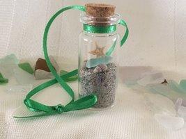 Beach Glass in a Bottle Ornament