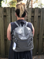 Nicole Rucci Fashion Backpack in Gray